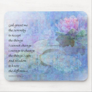 Serenity Prayer Water Lily Wonders Mouse Pad