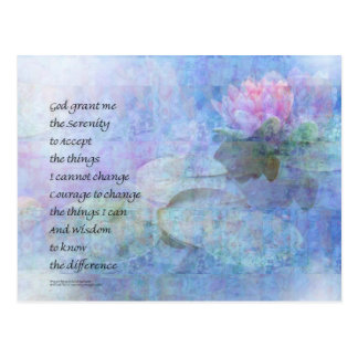 Serenity Prayer Water Lily Wonders Postcard
