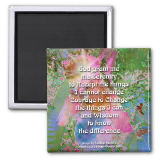 Serenity Prayer Wild Iris 3 Magnet