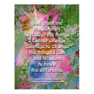 Serenity Prayer Wild Iris 3 Postcard
