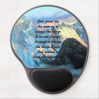 Serenity Prayer With Panoramic View Mount Everest Gel Mouse Pad