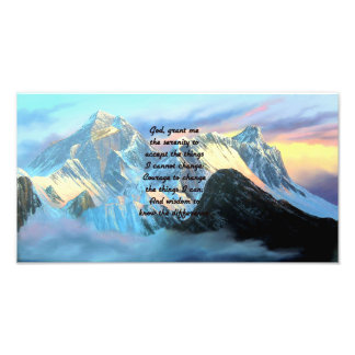 Serenity Prayer With Panoramic View Mount Everest Photo Print
