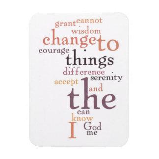 Serenity Prayer Word Art Magnet