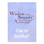 Serenity Prayer Wordle on abstract 13 Cm X 18 Cm Invitation Card