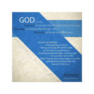Serenity Prayer Wrapped Canvas