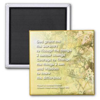 Serenity Prayer Yellow - Blossoms on Pine Magnet