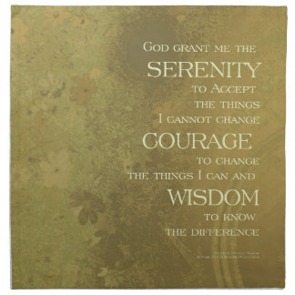 Serenity Prayer Yellow Gold Cloth Napkins