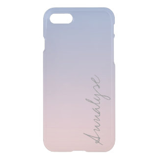 Serenity Rose Quartz Blue Pink Ombre Stylish iPhone 7 Case