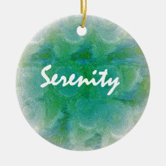 Serenity Round Ceramic Decoration