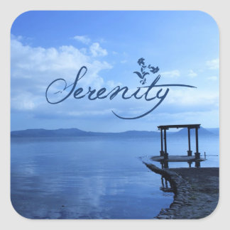 Serenity Square Sticker