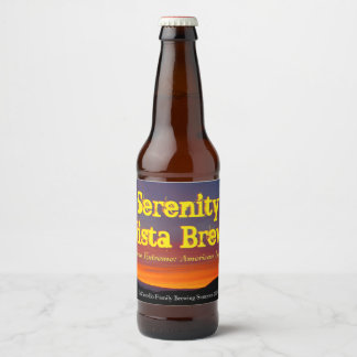 Serenity Vista Brew Label