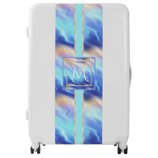 Serenity Waves Monogram Luggage