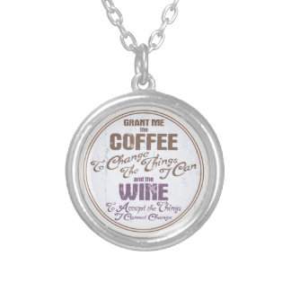 Serenity Wine III Silver Plated Necklace