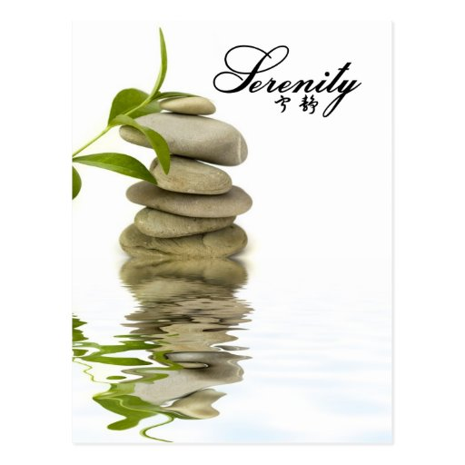Serenity - Zen Rocks with Bamboo Post Card