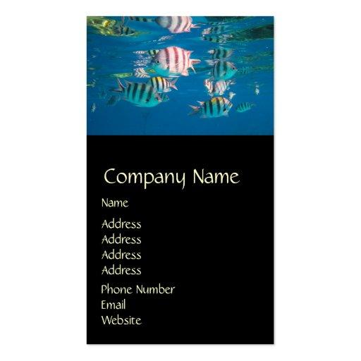 Sergeant Major Fish Business Card