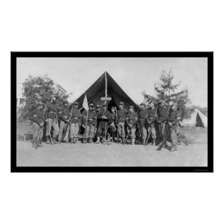 Sergeants Near Harper's Ferry, VA 1862 Poster