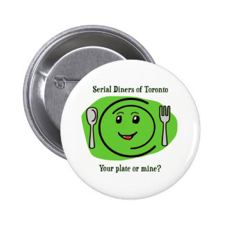 Serial Diners2 - the Plate 6 Cm Round Badge