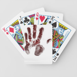 Serial killer blood handprint bicycle playing cards