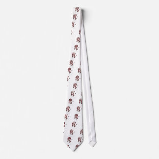 Serial killer blood handprint tie