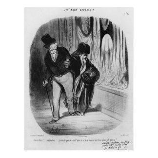 Series 'Les Bons Bourgeois' Postcard