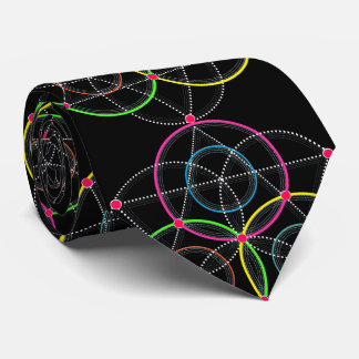 Series of Geometric Circles and Lines in Color Tie