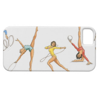 Series of illustrations showing rhythmic iPhone 5 cover