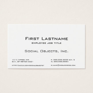 Serif Bank Gothic Template Business Card