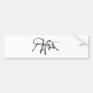 Serious Ant in Black & White Bumper Sticker