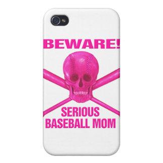 Serious Baseball Mom iPhone 4 Covers