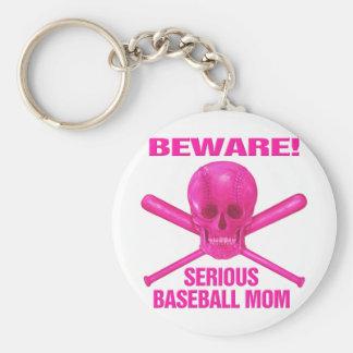 Serious Baseball Mom Key Chains
