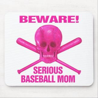 Serious Baseball Mom Mouse Pads