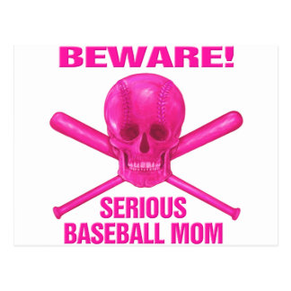 Serious Baseball Mom Postcard