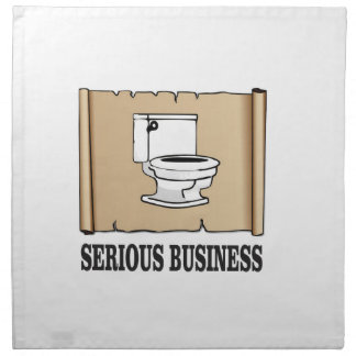 serious business fun napkin