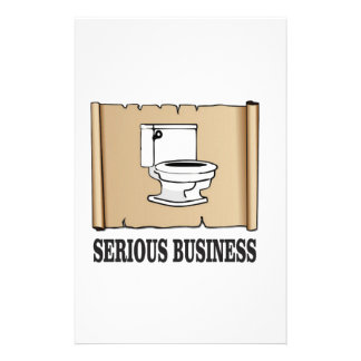 serious business fun stationery paper