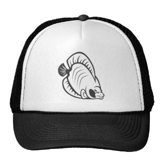 Serious Butterfly Fish in Black and White Trucker Hat