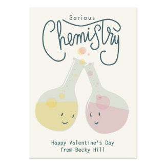 Serious Chemistry Valentine Card Pack Of Chubby Business Cards