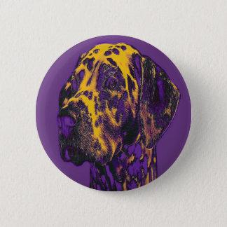 Serious Dalmatian. Standard, 2¼ Inch Round Button. 6 Cm Round Badge