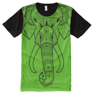 Serious Elephant Green - All-Over Printed T-Shirt