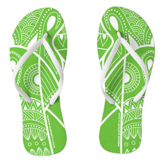 Serious Elephant Green - Slim Straps Sandals