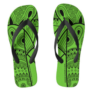Serious Elephant Green - Wide Straps Sandals