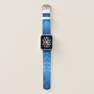 Serious Elephant Two -  Blue Apple Watch Band