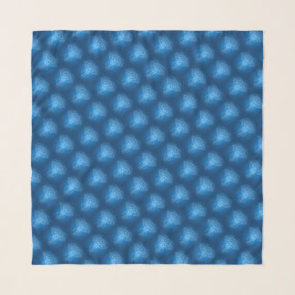 Serious Elephant Two Blue Pattern Tiles Scarf