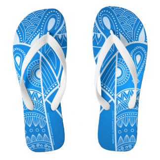 Serious Elephant Two - Blue Wide Straps Sandals