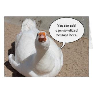 Serious Goose Greeting Card
