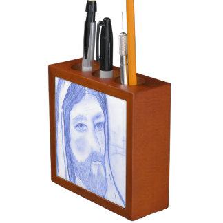 Serious Jesus Desk Organiser