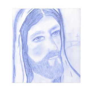Serious Jesus Notepad