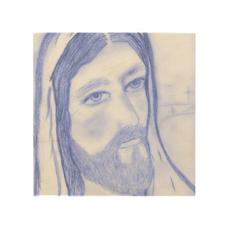 Serious Jesus Wood Canvases