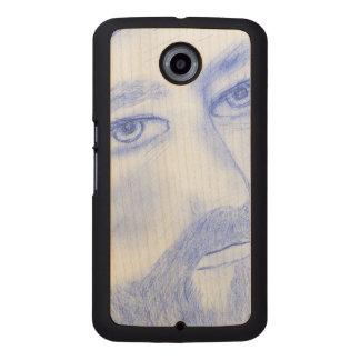 Serious Jesus Wood Phone Case