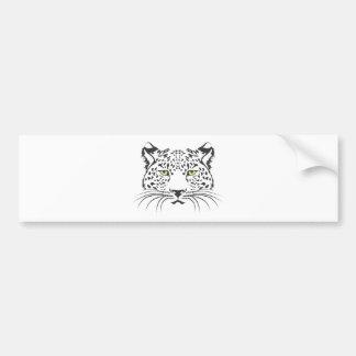 Serious Leopard Cat Bumper Sticker