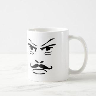 Serious Moustache Man Basic White Mug